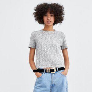 Zara Soft Touch Shirt in Gray Marl